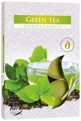 svíčka čajová vonná 6ks zelený čaj