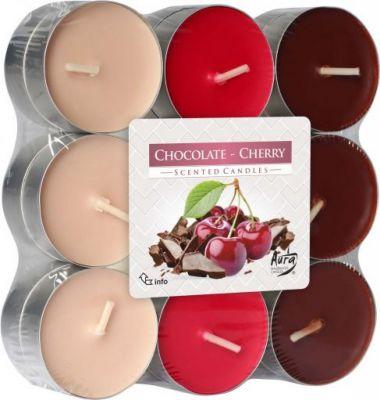 svíčka čajová vonná 18ks čokoláda-višeň