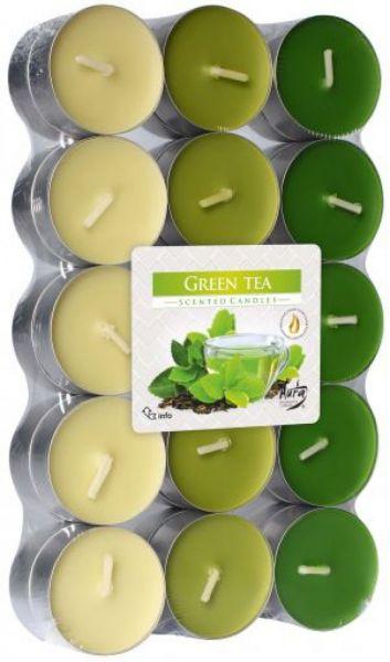 Svíčka čajová vonná 30ks KOKTEJL zelený čaj