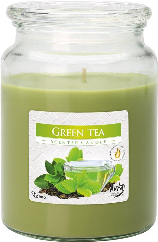 Bispol Aura vonná svíčka v dóze maxi zelený čaj