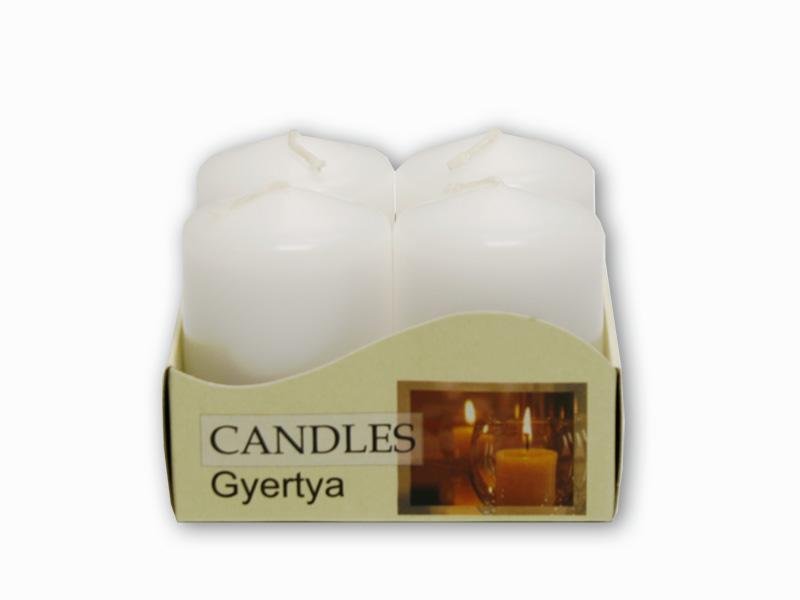adventní svíčky 4ks bílá