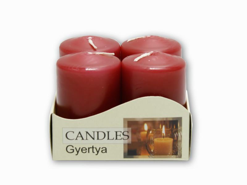 adventní svíčky 4ks bordo