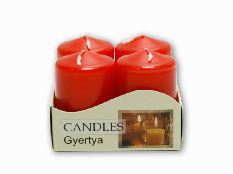adventní svíčky 4ks červená