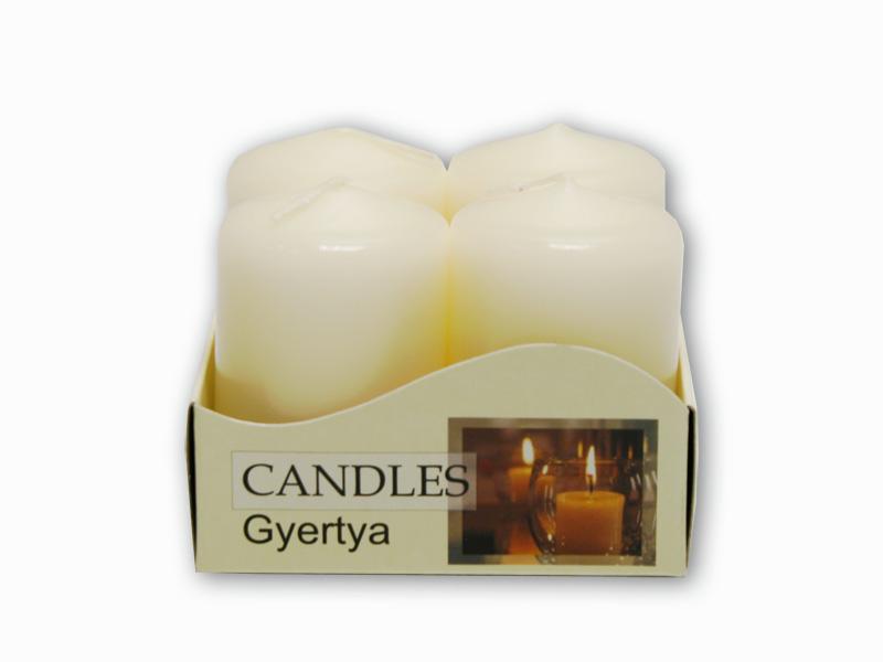 adventní svíčky 4ks krémová