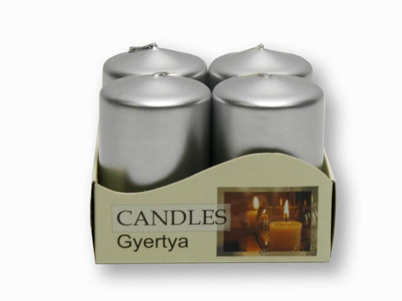 adventní svíčky metalik stříbrná