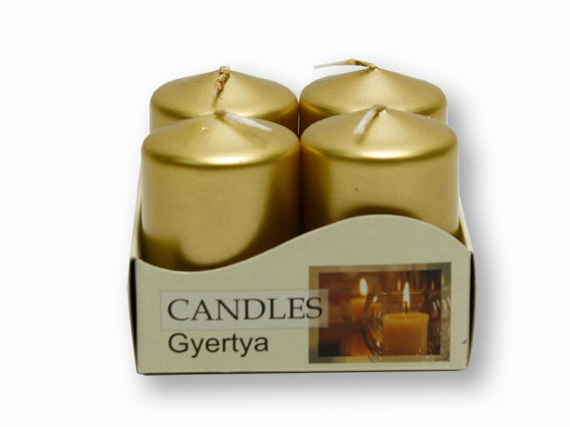 adventní svíčky metalik zlatá