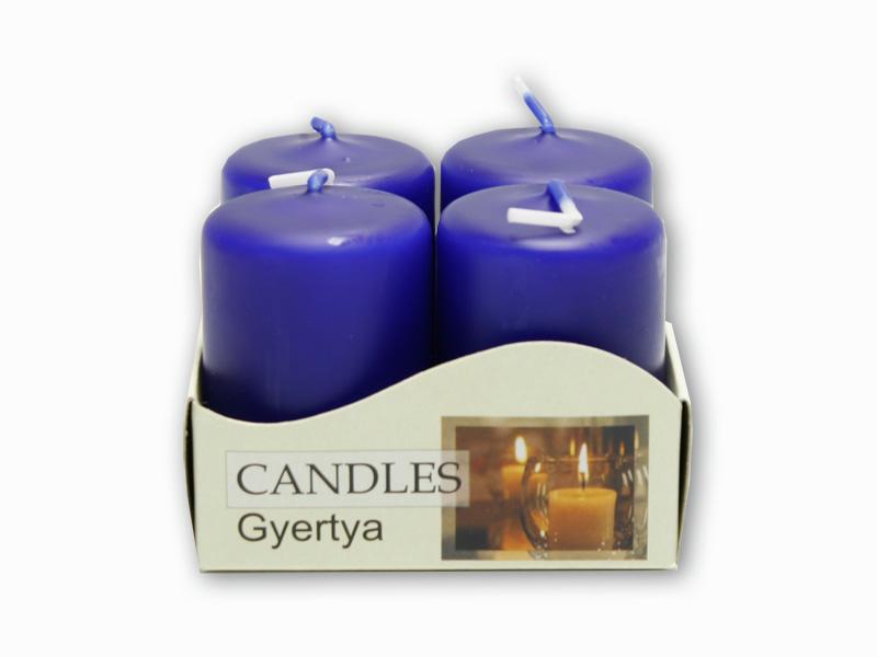 adventní svíčky 4ks modrá