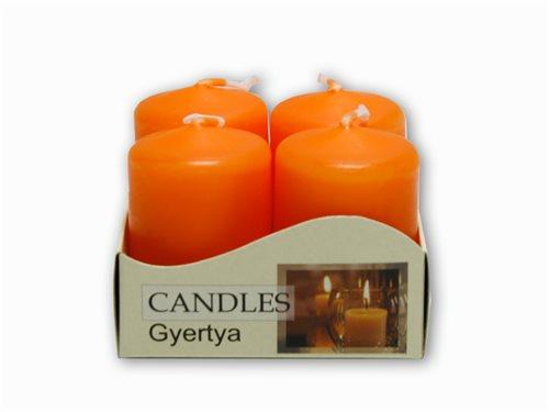 adventní svíčky 4ks oranžová