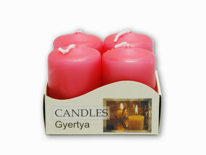 adventní svíčky 4ks růžová