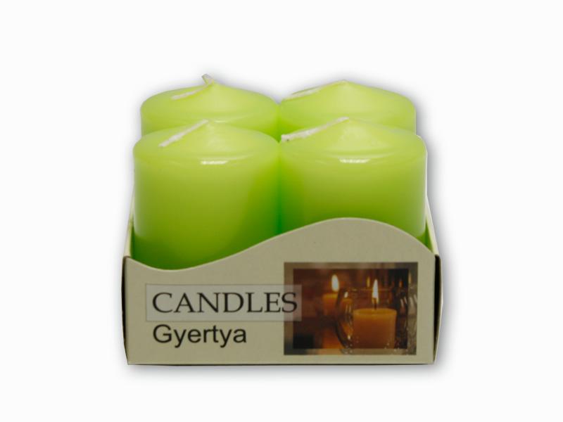 adventní svíčky 4ks olivová