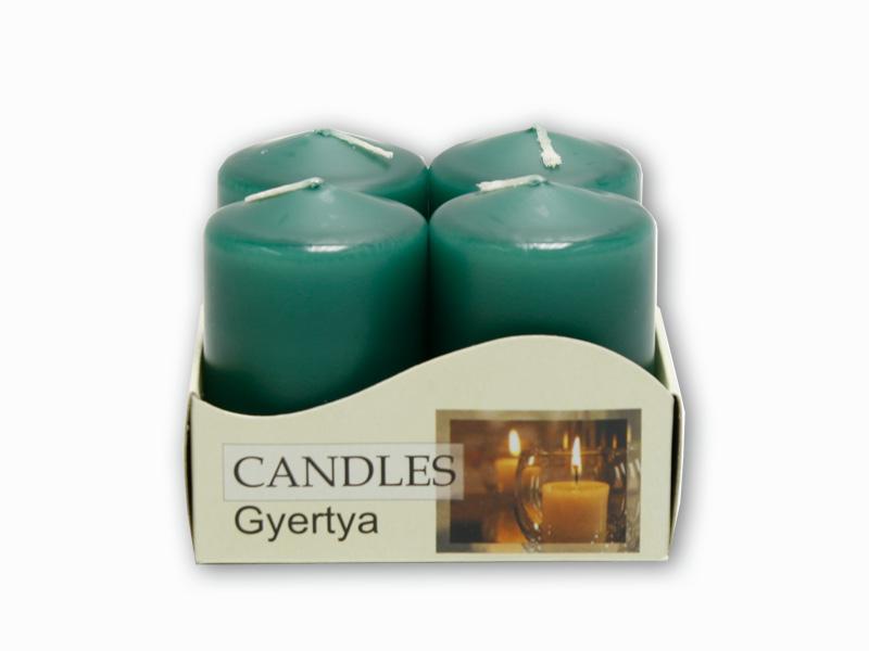 adventní svíčky 4ks zelená