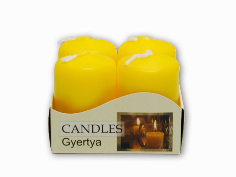 adventní svíčky 4ks žlutá