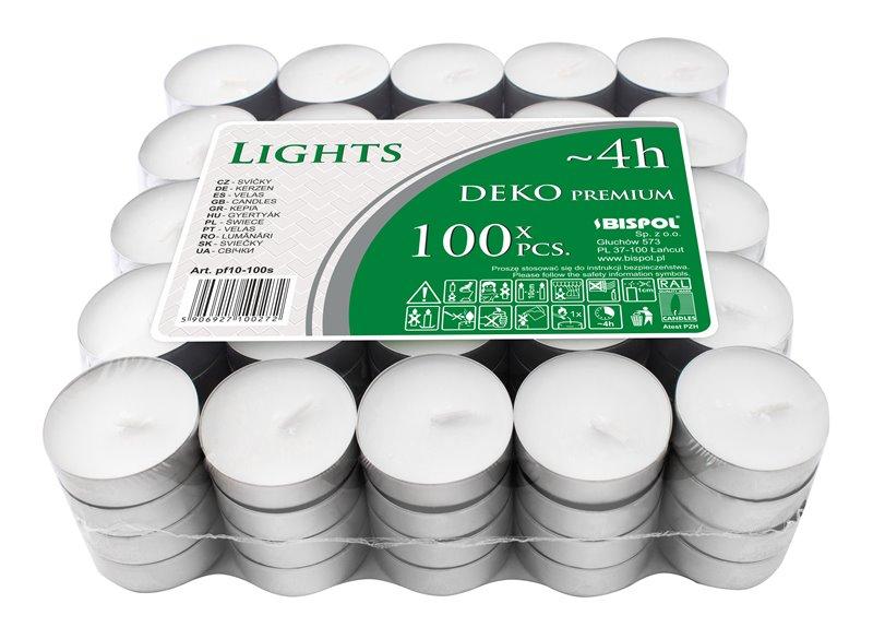 svíčky čajové DEKO 100ks