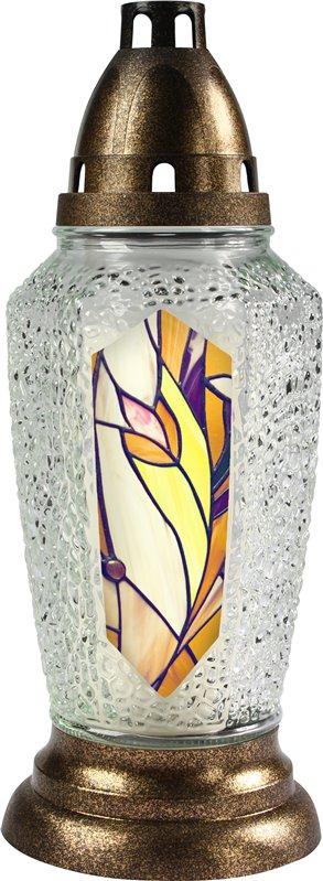 Skleněná lampa 4014 vitráž