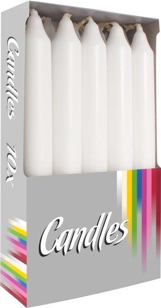 svíčky stolní 10ks bílá