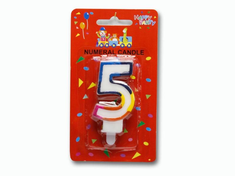 svíčka dortové číslo 5