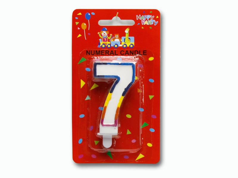 svíčka dortové číslo 7