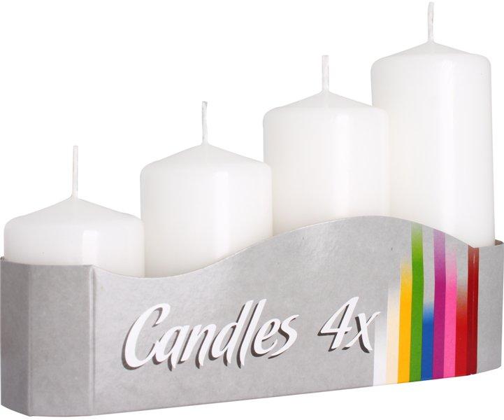adventní svíčky schody bílá